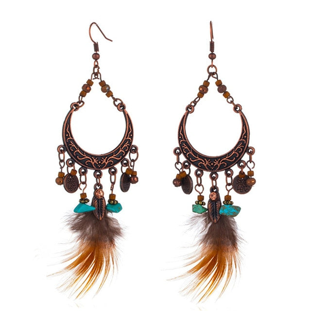Urban Feather Earrings - 12 Styles