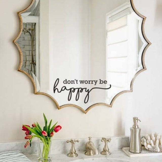 Inspirational Mirror Sticker - 12 Phrases - 2 sizes