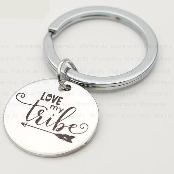"Love my Tribe Necklace, Keychain or Token - 18"" Inches"