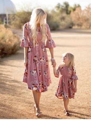 Autumn Garden - Mother & Daughter Dress