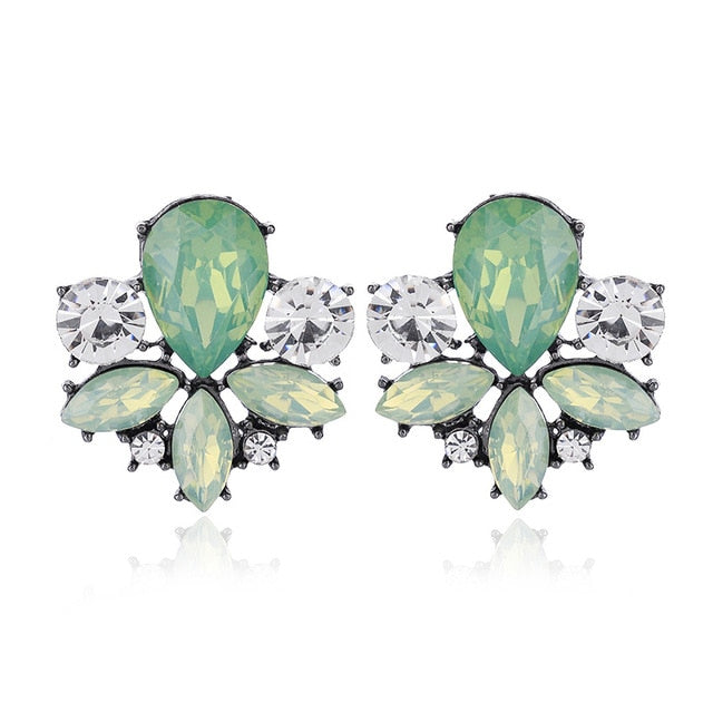 Avant Sparkle Crystal Pierced Earrings - 14 Colors