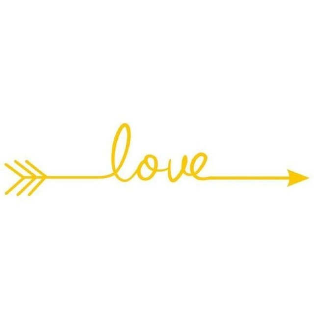 Love Arrow Wall Sticker Decal - 15 Colors
