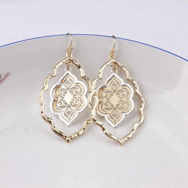 Moroccan Cutout Drop Earrings - 2 Styles