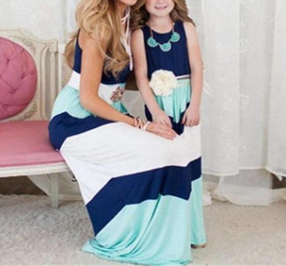 Cosmos Cute Chevron Mother - Daughter Dresses - 3 Styles