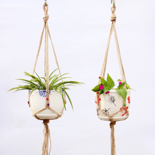 Macrame Rope Hanging Basket for Plant