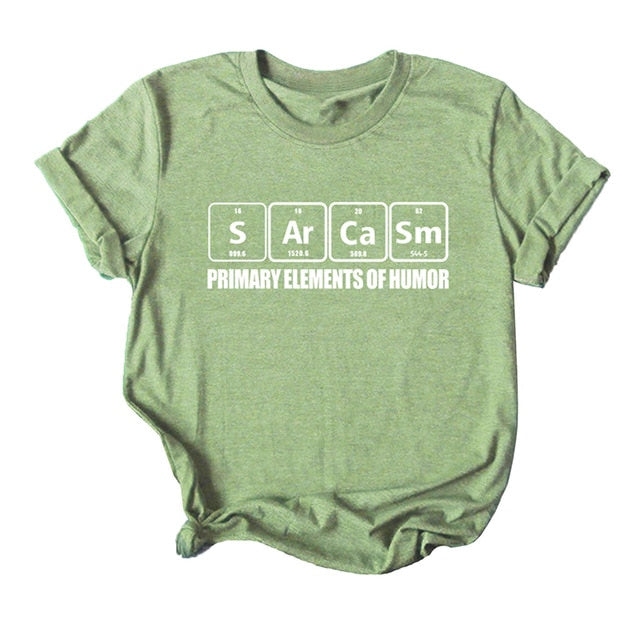 Sarcasm Periodic Table Tshirt - S-5XL - 6 Colors