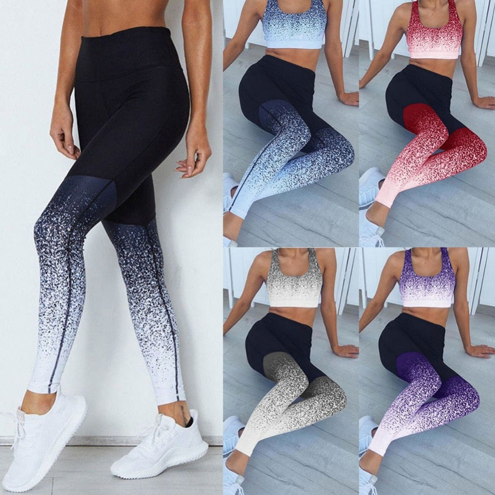 Ombre Yoga Pants  Sport Leggings Size: XS-L - 5 Colors