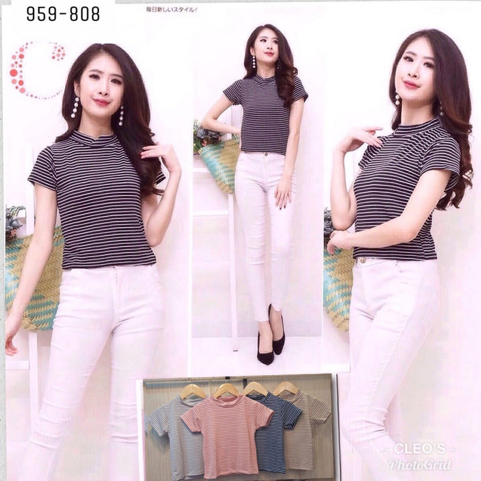 Basic stripe top 959-808