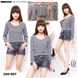 Basic Long sleeves stripes 160-907