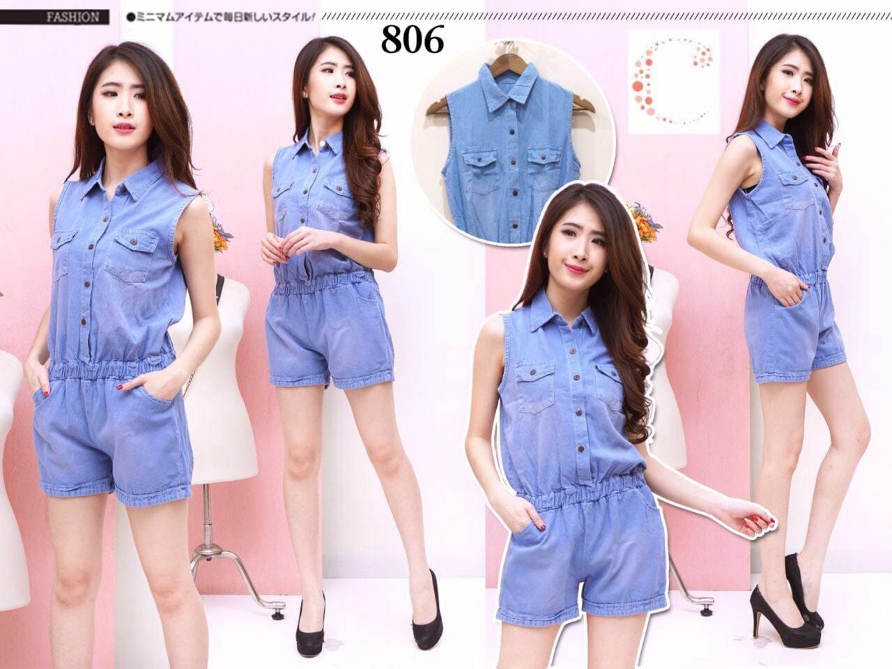 Denim jumpsuit 806