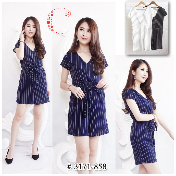 Short stripes jumpsuit 3171-858