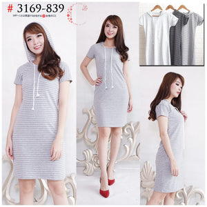 Stripe Hoodie dress 3169-839