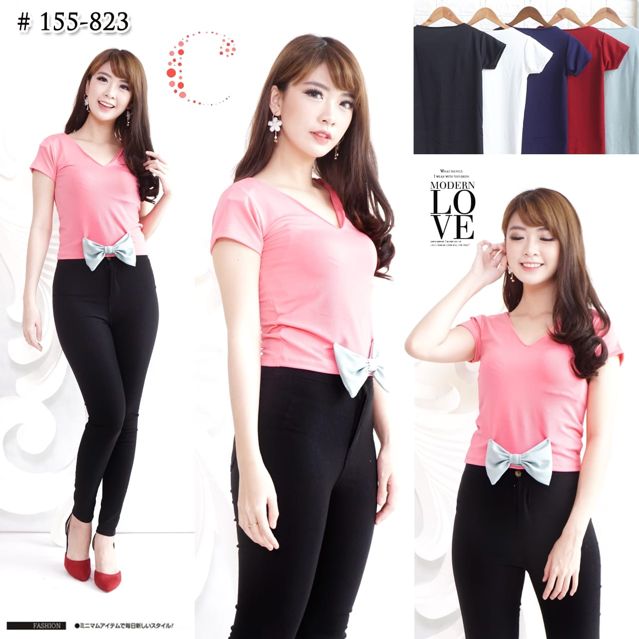 Bow tie crop tops 155-823