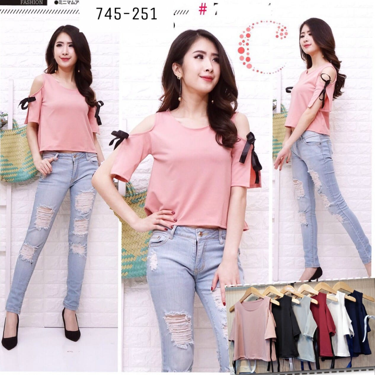 Shoulder tie tops 745-251