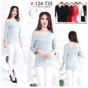 Off shoulder top 124-735