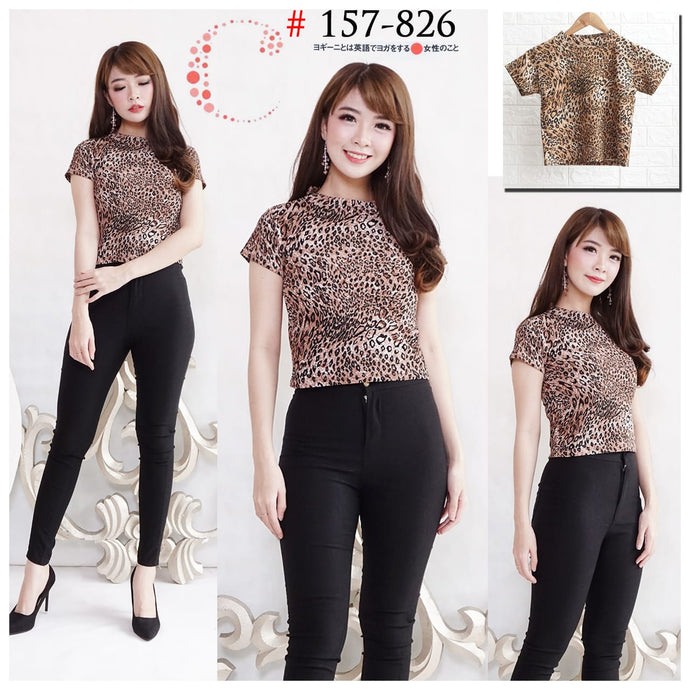 Leopard crop top 157-826