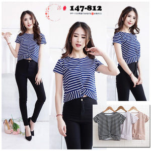 Stripe cross tops 147-812