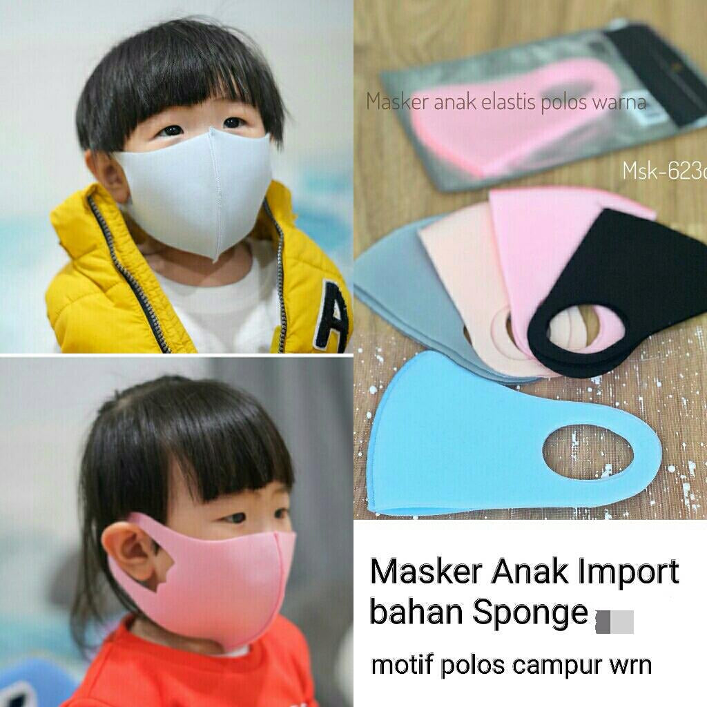 Masker anak import 20pcs , RANDOM COLOUR