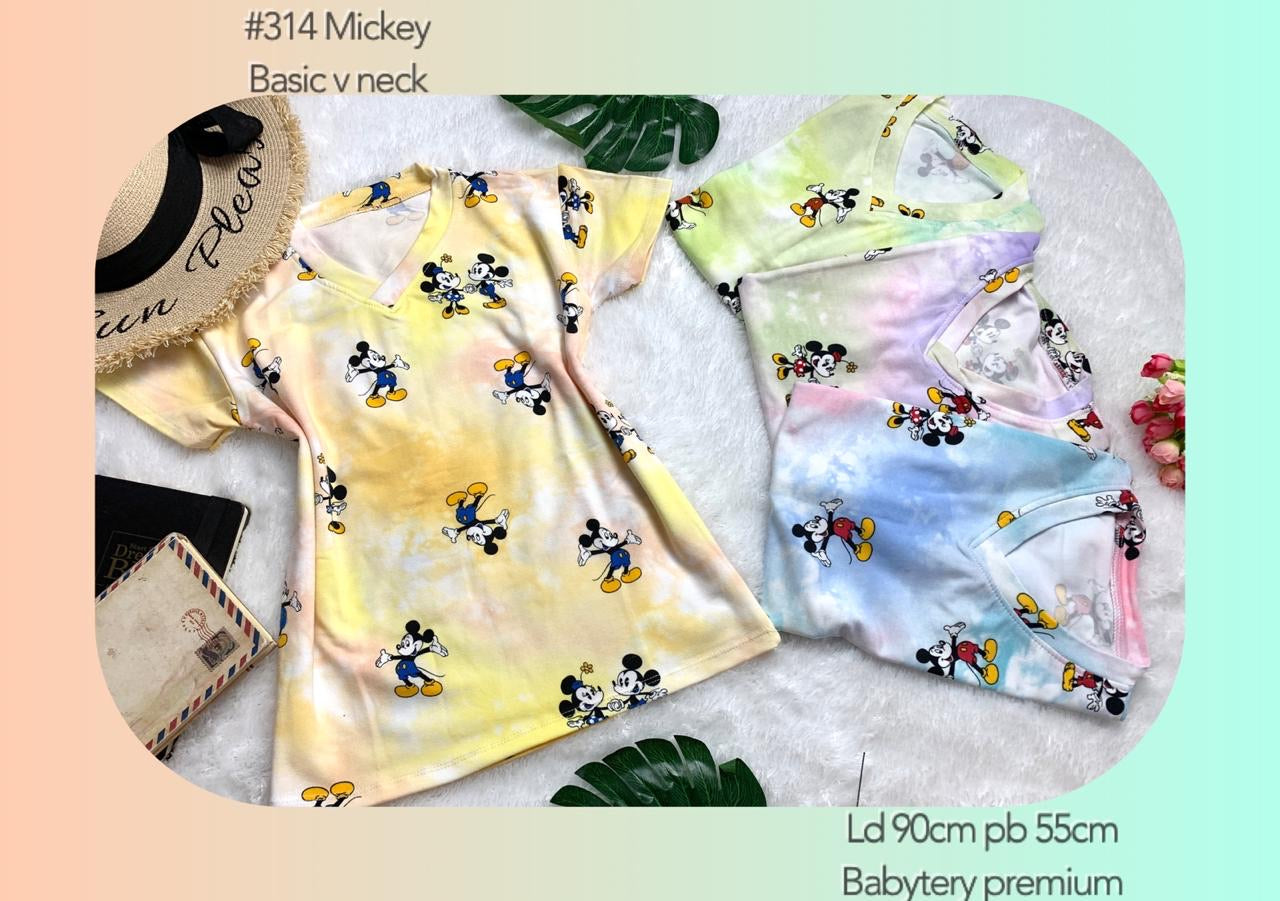 314 mickey basic vneck