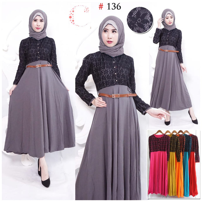 Brukat maxi dress 136