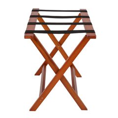 "Registry® Deluxe Wooden Luggage Rack Mahogany 25.75"" W x 16.75"" D x 21.25"" H"