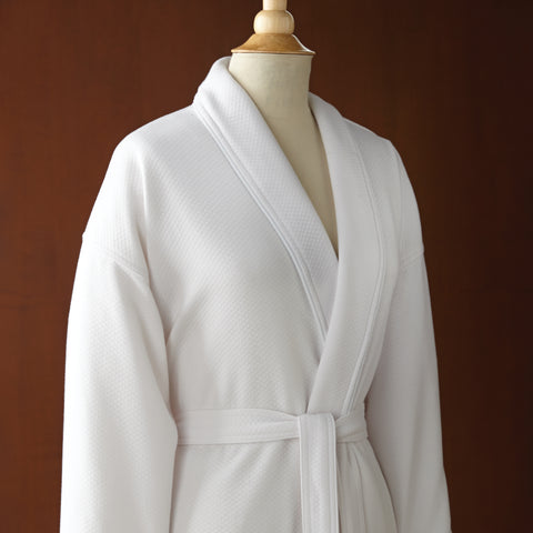 Le Montreaux Quilted Knit Robe with Plush Shawl Collar