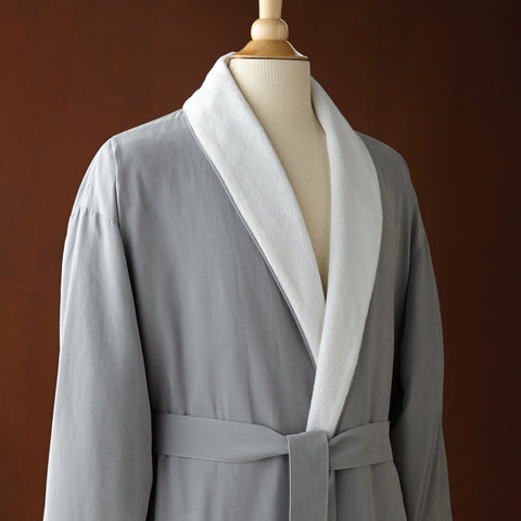 Le Montreux Microfiber Shawl Collar Robe, Grey