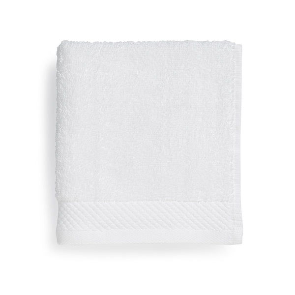 "Tesino® 100% Ring-Spun 2-Ply Combed Cotton Wash Cloth, White, 13"" x13"""