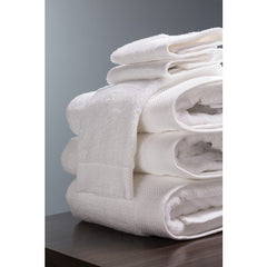 "Tesino® 100% Ring-Spun 2-Ply Combed Cotton Bath Towel White, 27"" x 54"""