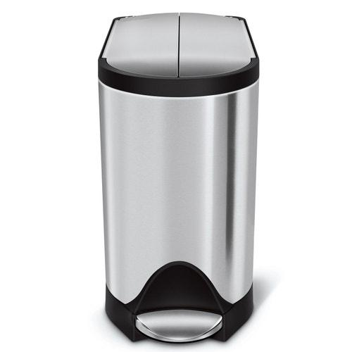 Simplehuman 2.6 Gallon Butterfly Step Can Wastebasket, Stainless Steel