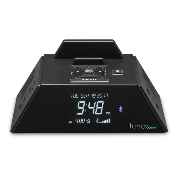 Luna by Conair Bluetooth Alarm Clock with Charging Station