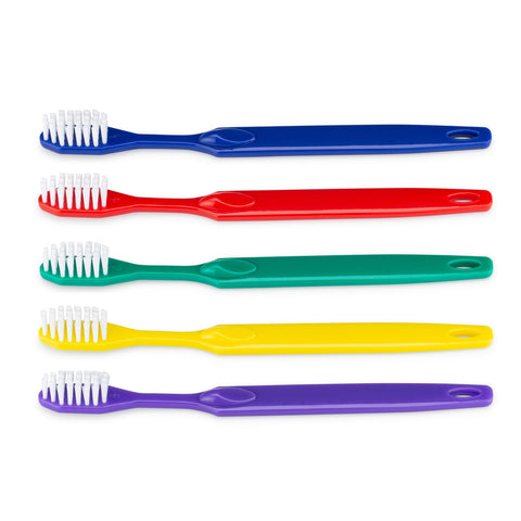 Plastic Toothbrushes in Assorted Colors, Pack of 72 - SPECIAL PRICE