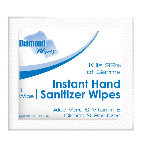 Single-Use Hand Sanitizing Wipes, Case of 1,000