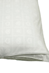130 Thread Count Pillow Protector White Rustproof Nylon Zippers