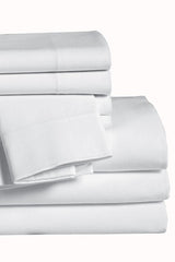 200 Thread Count Mercerized Cotton/Poly Pillowcase, White