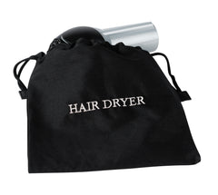 "Registry® Hair Dryer Bag Black 12"" x 12"""