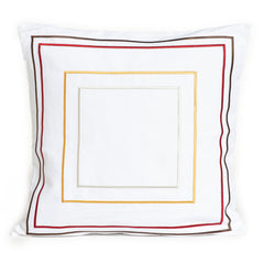 "Embroidered Squares Accent Pillowcase, 18"", Vibrant"