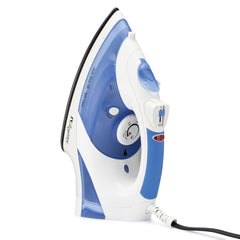 Registry® Full-Size Anti-Drip Iron with Swivel Cord, White With Blue