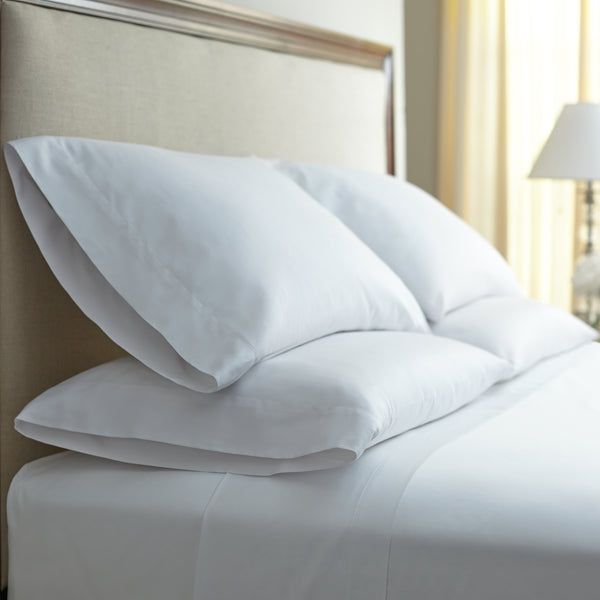 400 Thread Count Egyptian Cotton Flat Sheet, white