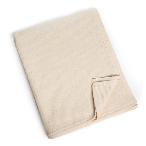 "100% Cotton Blanket, 55"" x 84"", Off-White"