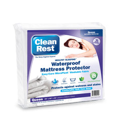 CleanRest® Waterproof Fitted Mattress Protector, White