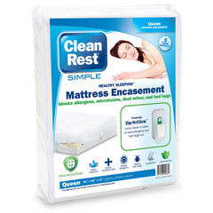 CleanRest Simple Mattress Encasement White