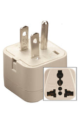 Universal to U.S. Outlet Plug Adapter White