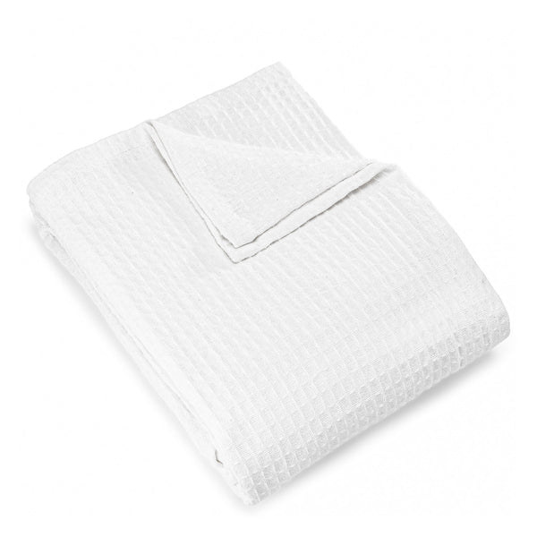 Registry Honeycomb Weave Cotton Blanket, White