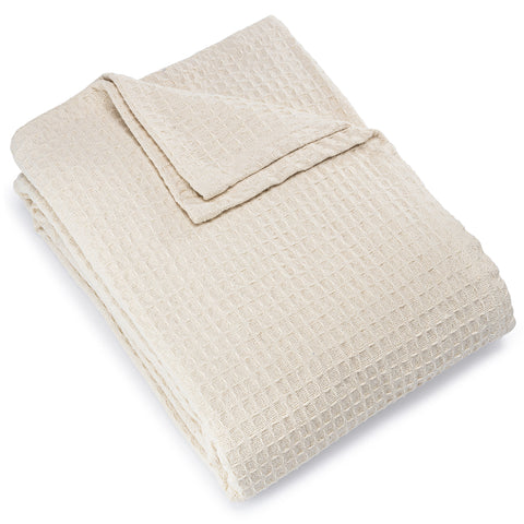 Registry Honeycomb Weave Cotton Blanket, Natural