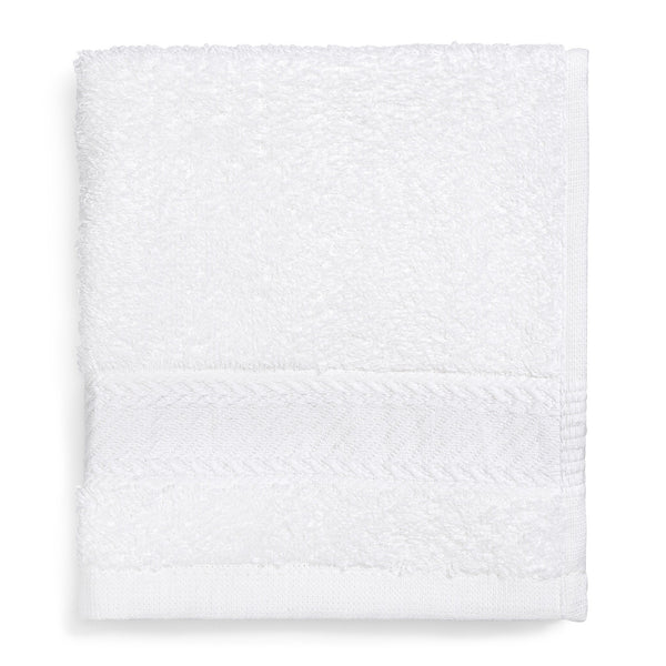 "100% Ring-Spun Combed Cotton Wash Cloth White, 13"" x 13"""