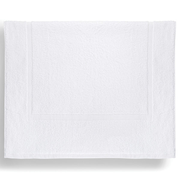 "100% Ring-Spun Combed Cotton Bath Mat, White, 22"" x 34"""