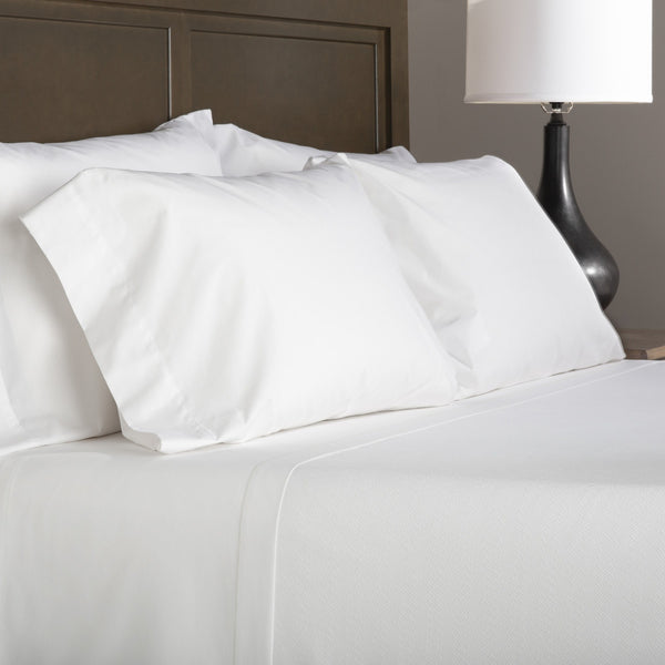 Registry 200 Thread Count Mercerized Fitted Sheets, White