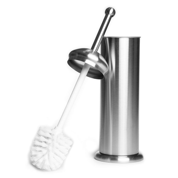 InterDesign, Brushed Stainless Steel Toilet Bowl Brush and Caddy