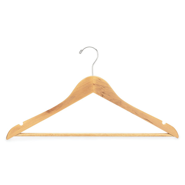 "Registry® 1/2""-Thick Wooden Hanger Natural Finish"
